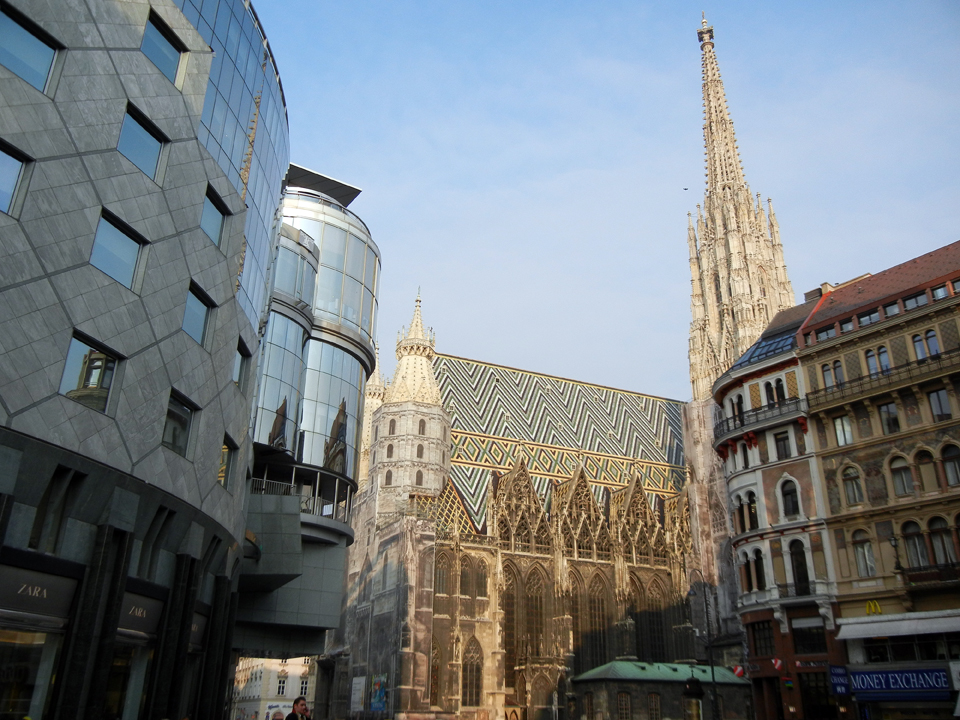 "The center of Vienna with the ""Stephansdom"""